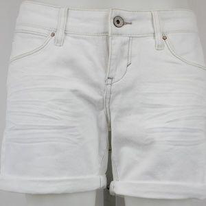 Levi White Midi Shorts Size 7
